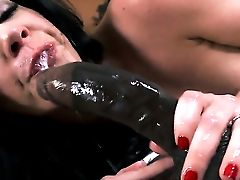 Lustful Hussy With Edible Melons Shows Ass Fucking Tricks With Desire