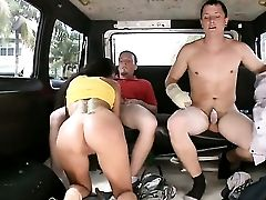 Dark-haired Breanne Benson With Big Butt Loves Her Fuck Buddys Pole In This Tugjob Act