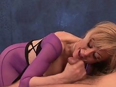 Bootylicious Nymphomaniac Nina Hartley Takes A Chance To Work On Customer's Dick
