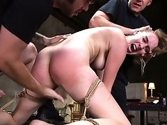 Tied Up Chick Cadence Lux Gets Her Fuckbox Fucked And Jizzed In The Dark Domination & Submission Room