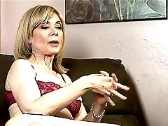 Matures Girly-girl Whore Nina Hartley In Sexy Undergarments Shares Her Fucking Practice On Camera!