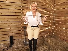 Jaw Ripping Off Huge-chested Princess With Stripe Lucy Zara Wants To Penalize Bad Boy