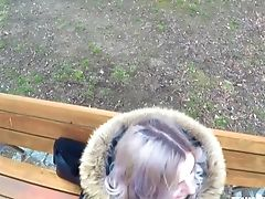 Picked Up Outdoors Chick Eva Elfie Gives A Stranger A Good Blowage
