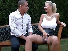 Sexy Blonde Nataly Cherie And The Backyard Banging Of Her Desires