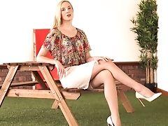 Long Legged Diminutive Tittied Blonde Ariel Anderssen Gets Naked And Tells Erotic Stories