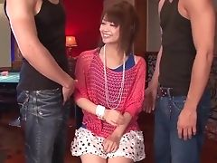 Erotic Threesome With Japanese With Diminutive Tits, Maika - More At Pissjp.com