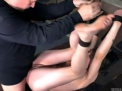 Lustful Honey And Two Draped Studs Have Some Insane Playroom Joy