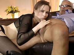 Lustful Beauty Attempts Older Dick