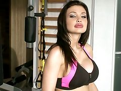 Blue Eyed Stunner Aletta Ocean Fucks Her Sport Instructor In The Gym