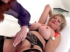 Cougar Crimson Xxx Plays With Roped Lady Sonia