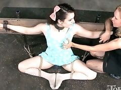 Paraffin Wax Session Is Prepped For Tied Up Enslaved Whore Endza Adair