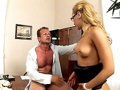 Aleska Still Likes To Get A Good Stuffing Right There In The Office