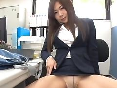 Sexy Assistant Likes Taunting Her Chief With Her Fit Butt. Hd