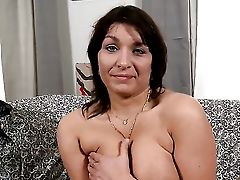 Brown-haired Sophia Moroe Has Some Time To Have Fun With Herself On Camera