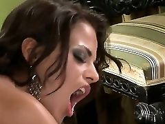 Stunning Dark Haired Black Angelika Has Joy On Stage As She Gets Rear End Fucked By Costar