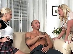 Perverted Mom And Daughter-in-law Like To Share Guys When Fucky-fucky And Have Three Ways