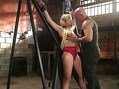 Harmless Looking Blonde Gabi Gold Loves Bracelets And Restraint Bondage
