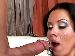 Xxx Oral Romp With Dark Haired Inviting Superstar Diana Prince. She Guzzles A Gigantic Dosage Of Hot, Fresh And Tasty Sperm After Wonderful Dt In Fron