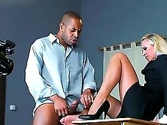 Here You Can See How The Real Adult Movies Are Made. The Buxomy Blonde Is Getting A Lot Of Hard Meat In Front Of Cameras. She Loves Her Work And Will