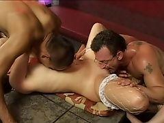 Inexperienced Mmf Threesome With Lollipop Greedy Stripper Sabrina. Hd