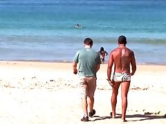Big-boobed Wifey Babalu Gets Dual Penetrated By Strangers On The Beach