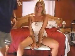 Huge-boobed  Blonde With A Pair Of Big Natural Tits Deepthroats Her Man And More In The Bedroom
