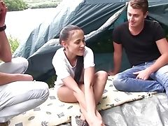 Nicole Love Seduced By Two Folks During A Camping Excursion