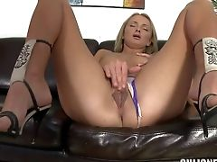 Attractive Youthful Looking Adorable Blonde Ivana Sugar With Natural Breasts