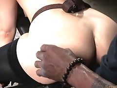 Stuffing All Of Endza's Taut Fuck Holes In The Bondage & Discipline Basement
