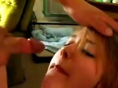 Jizzing On A Bitch's Face While My Friend Films