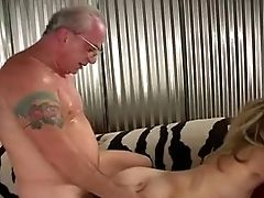 Youthful Blonde With Old Fart