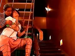 Man Ties Up Japanese Ultra-cutie Yu Kawakami By Thick Ropes Before Commencing To Do Perverted Things With The Hotty. He Is Pushing Thumbs In Her Snatc