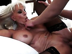 With Appetizing Titties Has Fire In Her Eyes As She Gets Her Mouth Banged By Her Bang Mate