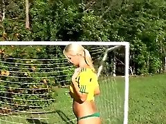 Blonde Chick Molly Cavalli And Her Dark Haired Gf Tiffany Tyler Begin Spending Good Time In Lezzy Joy After Playing Soccer For A While! See Gals Eatin