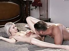Sultry Blonde Screams With Thick Inches Deeper In Her Rump
