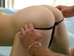 Lovely Looking Gf With Cock-squeezing Tits Alex Blake Lets Bearded Bf Eat Her Raw Cunt
