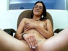 Sinful And So Sexual Nerdy Spectacled Sweetheart Kandi Milan Just Cant Live Sans Sucking And Wanking Big Hard-ons. Today The Bitch Gonna Masturbate Be