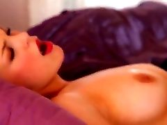 Blonde Bree Daniels Looks So Sexy As She Lays Down In Her Violet Sheets. She Licks Her Sweet Thumbs And Taunts Her Youthful Cooter With Them Before Sh