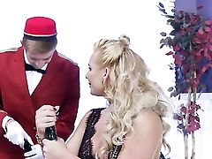 Blonde Phoenix Marie Gags On Stiff Dick Of Danny D