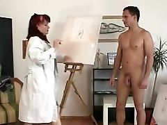 Oldie Likes Painting And Hard Dicks