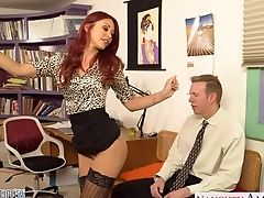 Glad Flirty Red-haired Mummy Monique Alexander Wanna Some Good Missionary