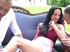 Beautiful Sweetie Nicole Love Gets Dual Penetrated For The Very First Time