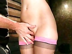 Attractive Sub Lady Audrey Rose With Nice Natural Tits Gets
