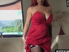 Stunning Cougar Alyssa Lynn Is Playing With Big Tits And Yummy Cunt