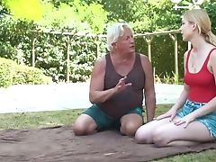Senior Fucks Pretty Nubile In Mouth And Cooter In The Park