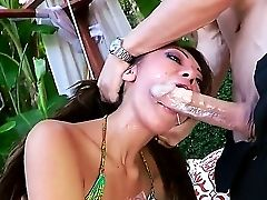Sexy Hot Gal Sucking A Enormous Trimmed Dick Sensing Sexy.