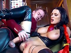 Huge-boobed Patty Michova Gets Metal Manhood In Her Smooth-shaven Cunt