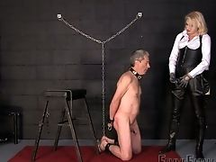 Blonde Mistress Akella Is Penalizing Rectal Crevasse And Deep Jaws Of Servant Dude