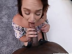 Thick Milky Gal Luvs A Hard Fuck From First-ever Black Pecker