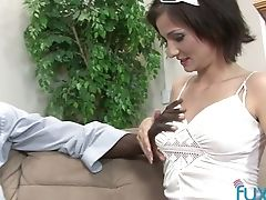 Skinny Chick Rosalie Is Fucked By Beau's Black Fellow